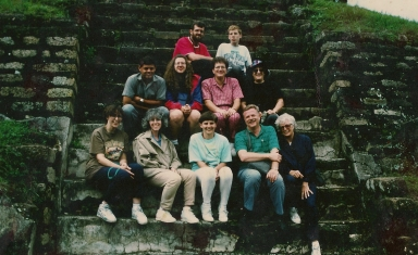 One of Faith Lutheran Church's early delegations to Guatemala in 1992.