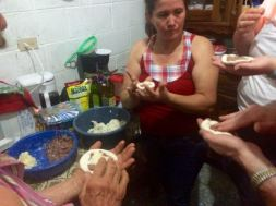 Making pupusas with Marleny